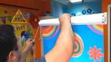 Замена полотна ткани рулонных штор