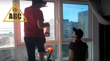 Тонировка алюминиевых панорамных окон