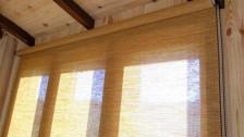 Фотографии бамбуковых рулонных штор>