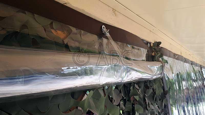 Мягкие окна ПВХ скрученные в рулон подвесами